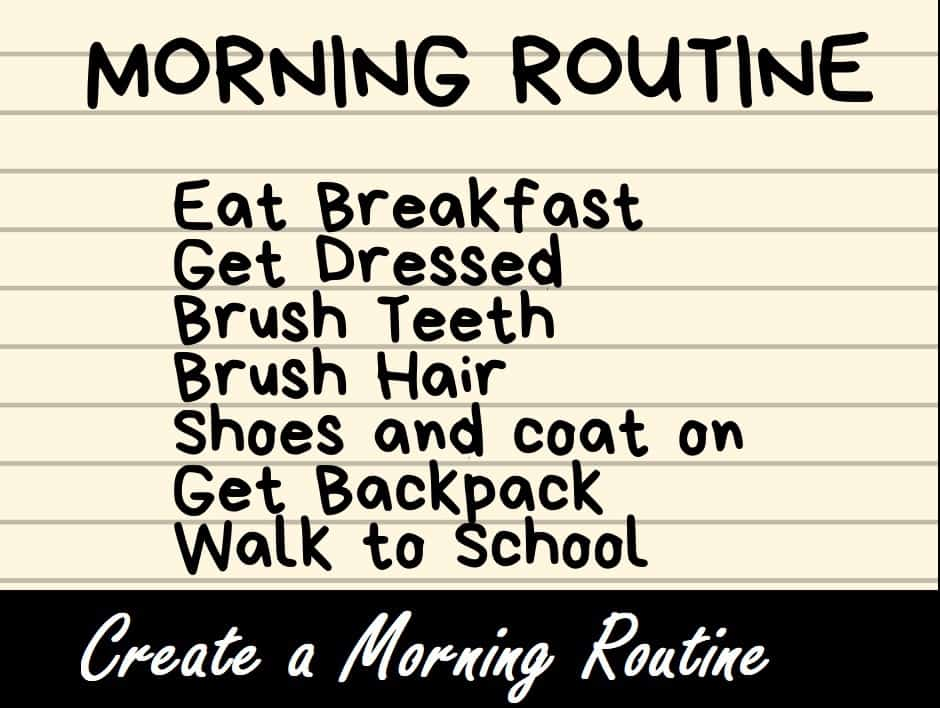 Create a Morning Routine for School Days | Mom Revamped